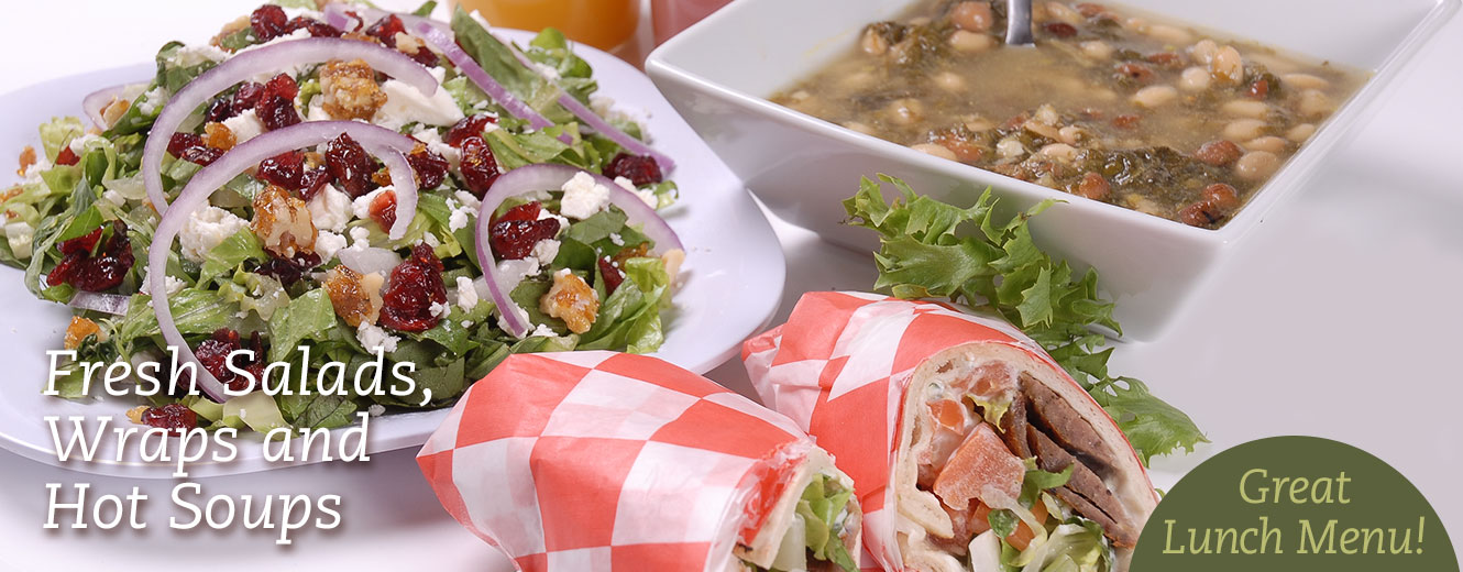 Fresh Salads, Wraps and Hot Soups